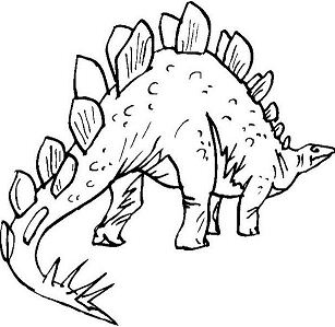 Prehistoric Stegosaurus Coloring Page