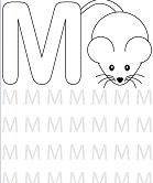 Preschool Letter M Coloring Page