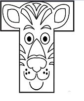 Preschool Letter T - image 2 Coloring Page