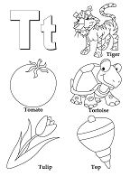Preschool Letter T Coloring Page