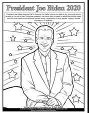President Jeo Biden 2020 Coloring Page