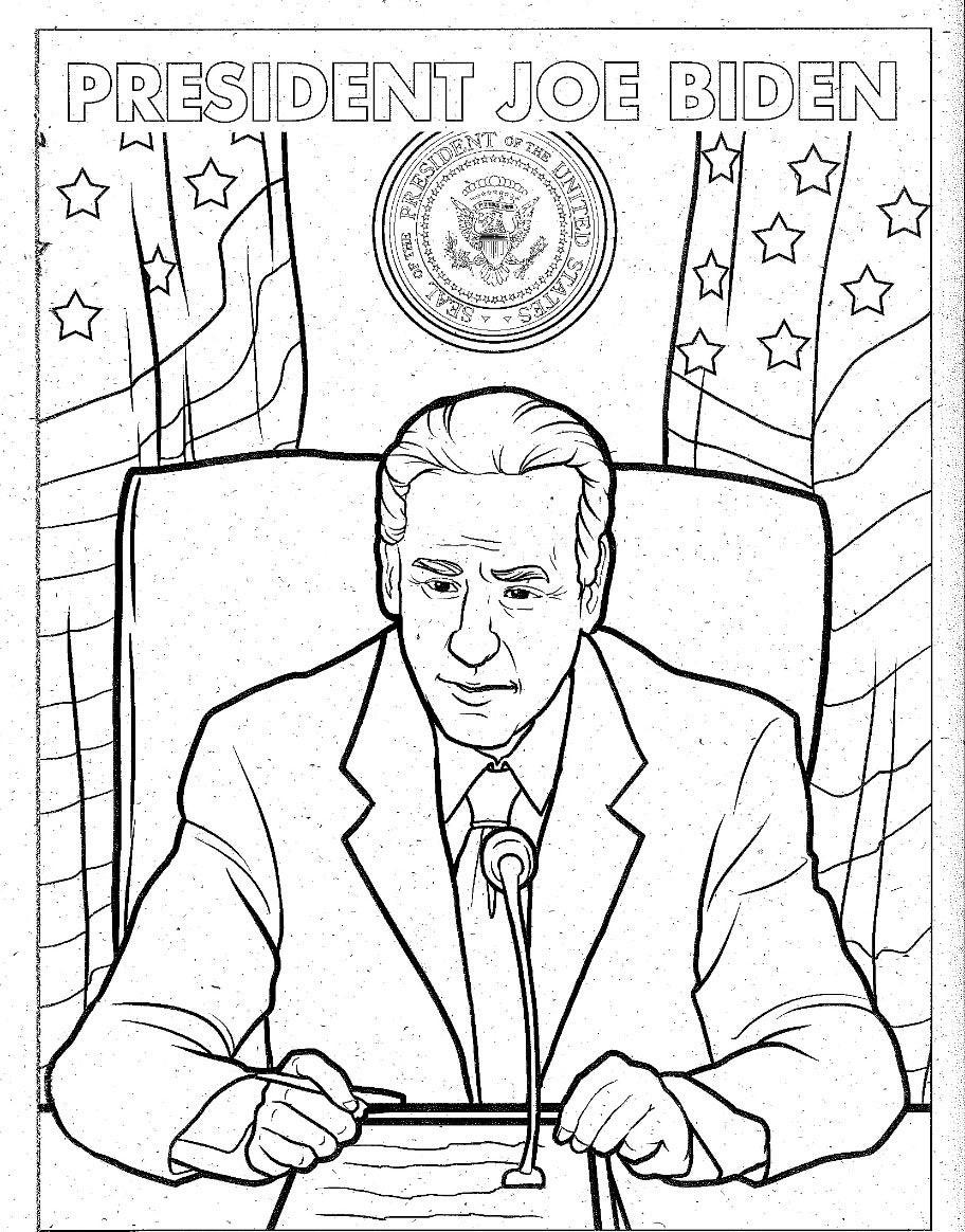 President Joe Biden Coloring Page