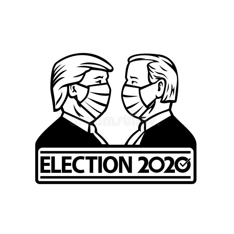Presidents are wearing mask Coloring Page