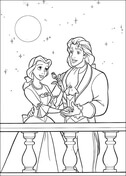 Prince And Princess Belle from Beauty and the Beast Coloring Page