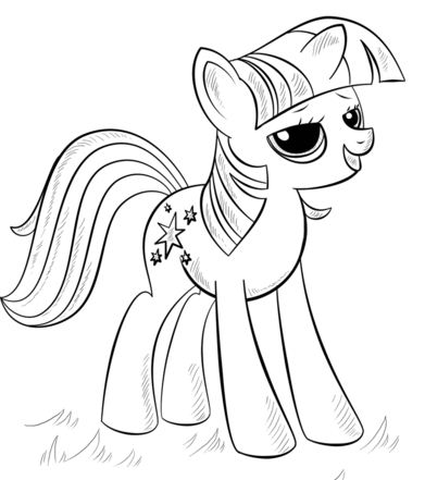 The Princess Alicorn Coloring Page