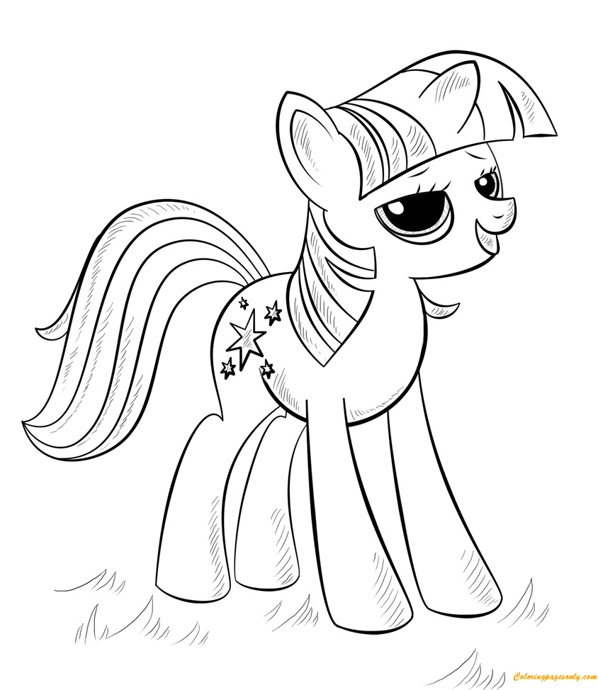 The Princess Alicorn Coloring Page Free Coloring Pages Online