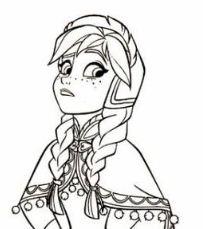 Princess Anna Coloring Page