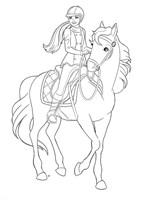 Princess Barbie Rides Horse