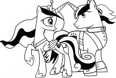 Princess Cadance And Shinning Armor My Little Pony Coloring Page