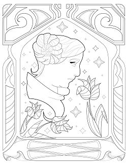 Princess Leia from Star Wars 1 Coloring Page