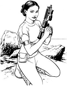 Princess Leia from Star Wars 2 Coloring Page