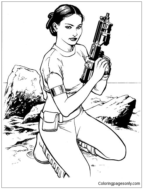 Princess Leia from Star Wars 2 Coloring Page - Free ...