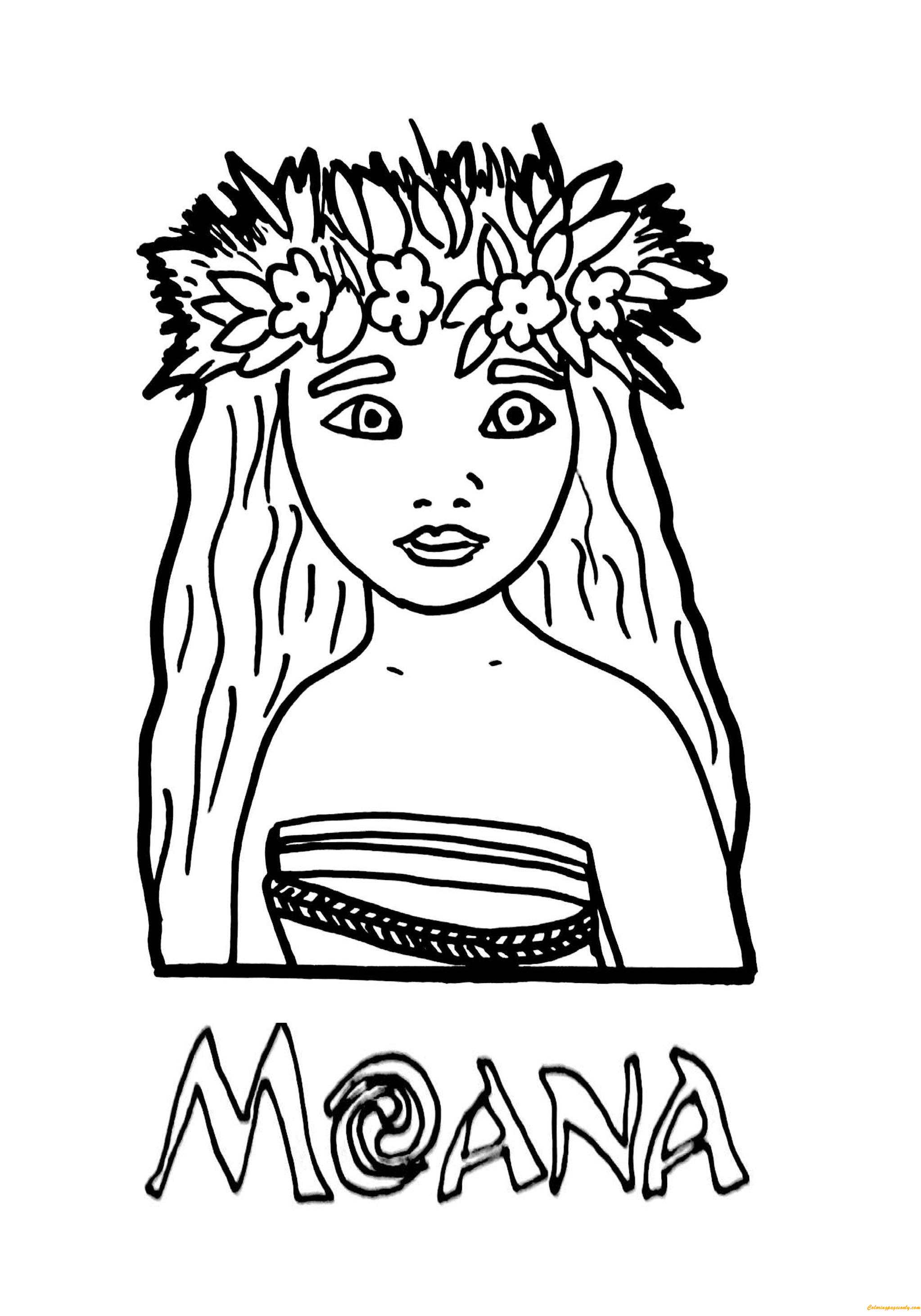 Princess Moana Coloring Page Free Coloring Pages Online