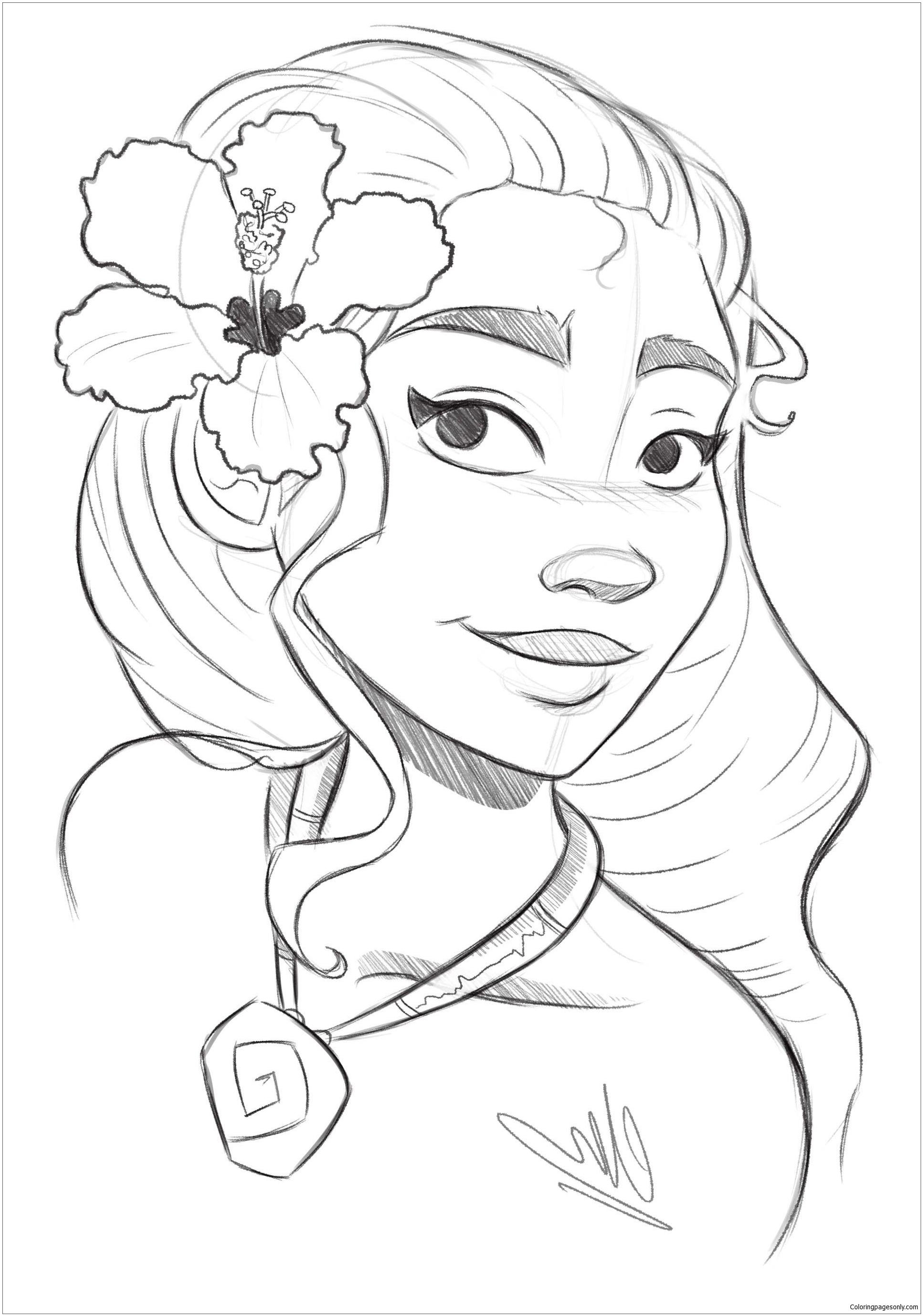Princess Moana 2 Coloring Page - Free Coloring Pages Online