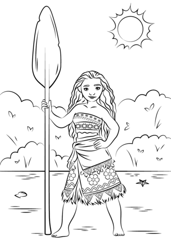 Princess Moana from Moana