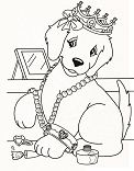 Princess Puppy Coloring Page
