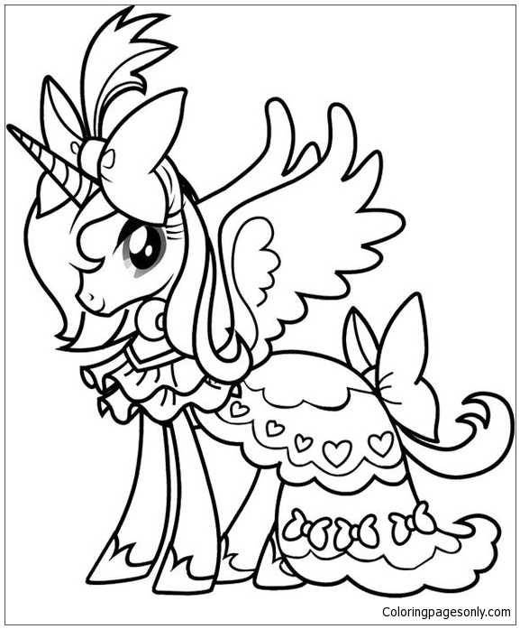 - Princess Rarity From My Little Pony Coloring Page - Free Coloring Pages  Online
