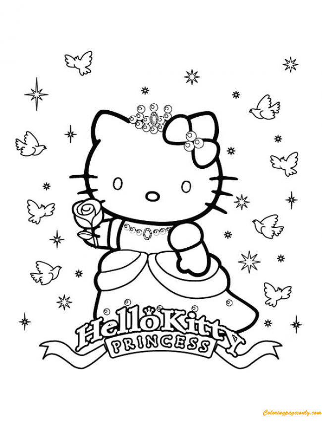 Princesse Kitty Coloring Page