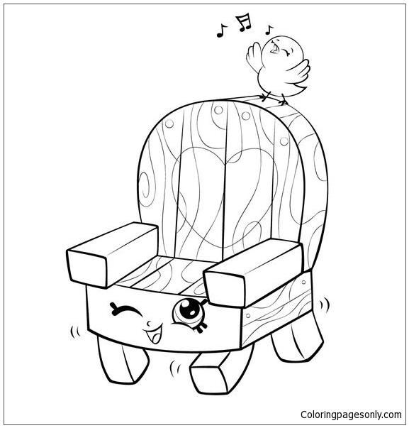 Print Garden Chair and Bird Shopkins Season 5 Coloring Page ...