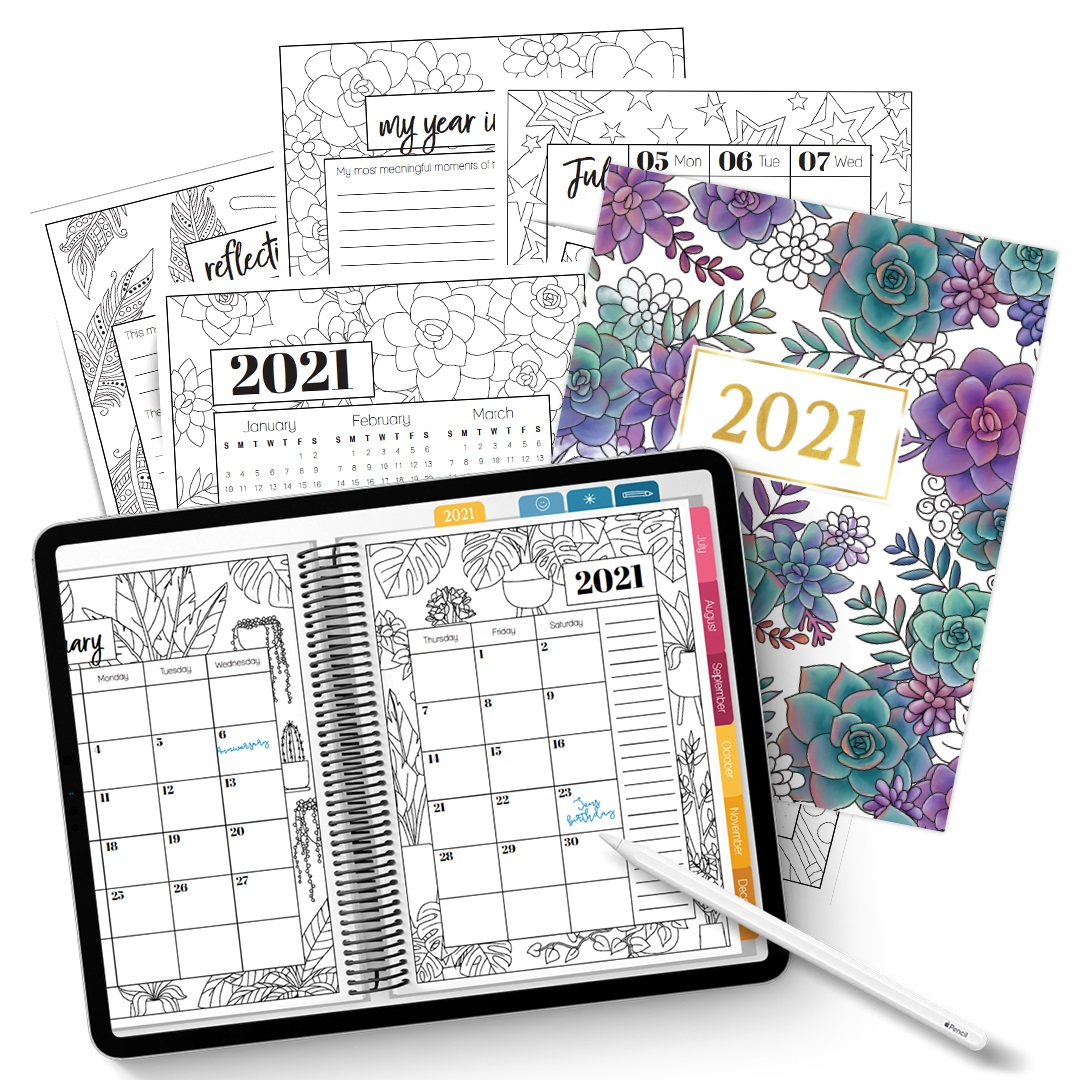 Printable Coloring Calendar For 2021 Coloring Page - Free ...