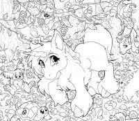 Printable Lisa Frank 9 Coloring Page