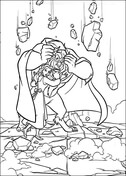 Beast is protecting Belle from Beauty and the Beast Coloring Page