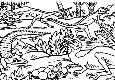 Protosuchus, Coelophysis And Saltoposuchus