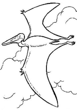 Pterodactyl Is Flying Coloring Page
