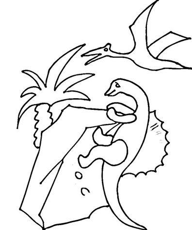 Pterodactyl Over Dinosaur