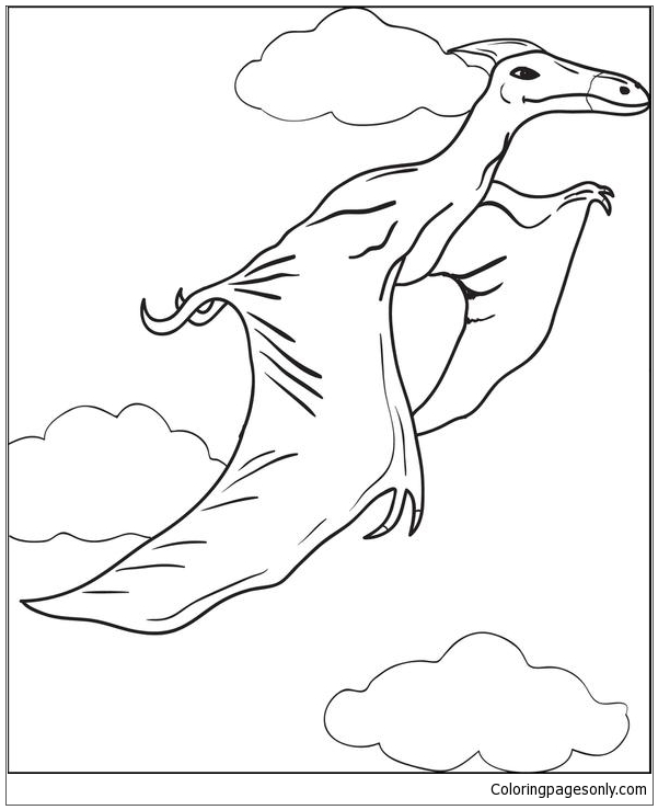 Pterodactyls Dinosaur 1 Coloring Page