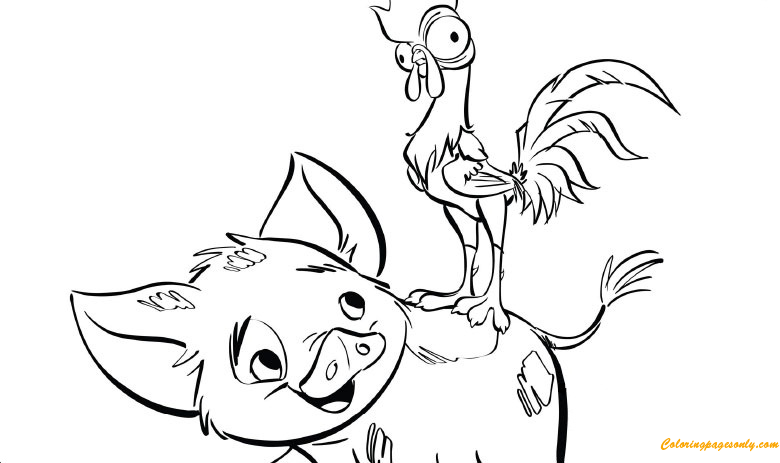 Pua And HeiHei Coloring Pages