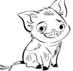 Pua Pig From Moana 4 Coloring Page