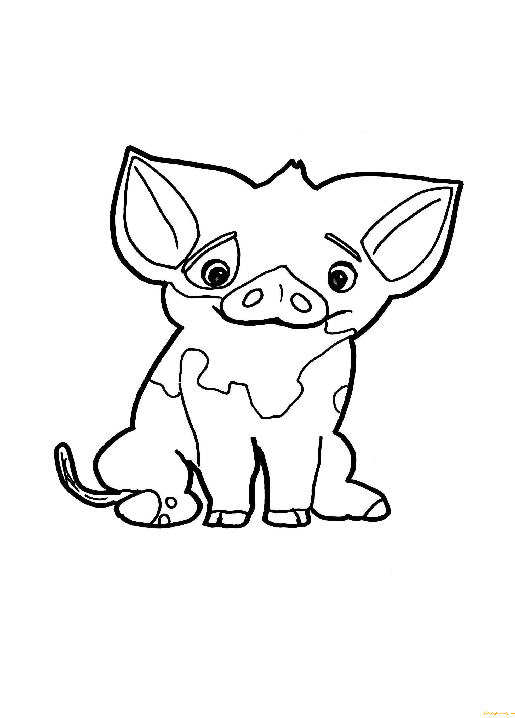 Pua Pig From Moana Coloring Page - Free Coloring Pages Online