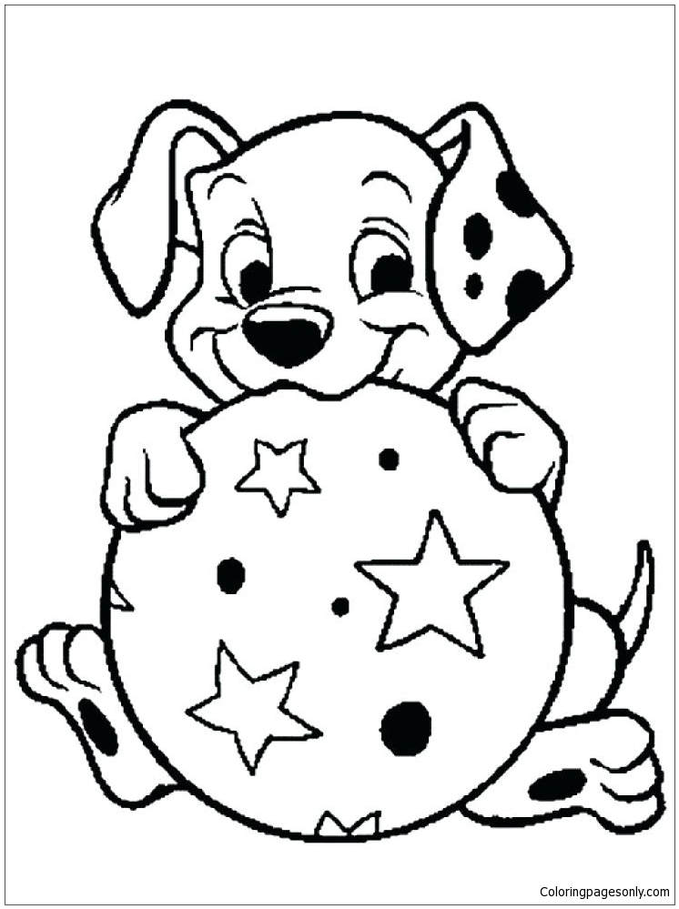 Pug Puppy Coloring Page - Free Coloring Pages Online
