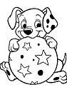 Puppies Dalmatian Playing Ball