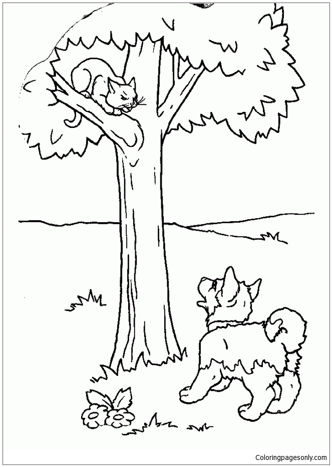 Puppy And Kitten Coloring Pages - Puppy Coloring Pages - Coloring Pages For  Kids And Adults