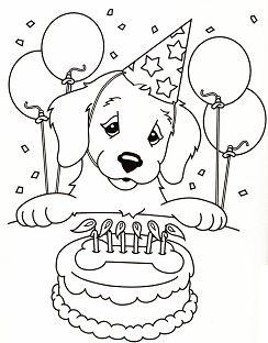 Puppy Birthday Cake Party