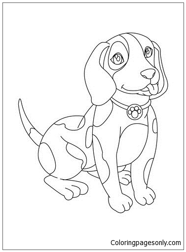 Puppy Cute 4 Coloring Page