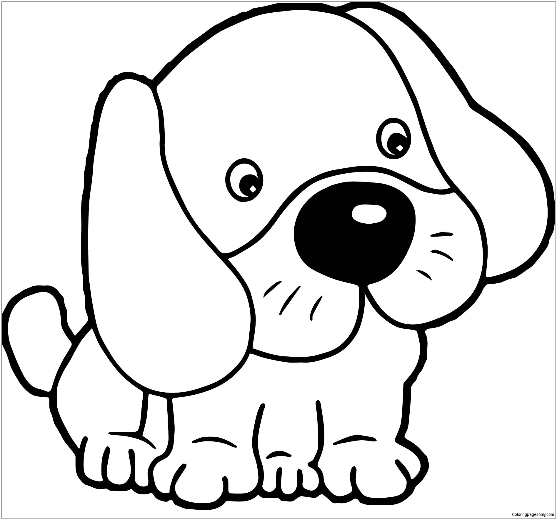 Puppy Dogs Cute Coloring Page - Free Coloring Pages Online