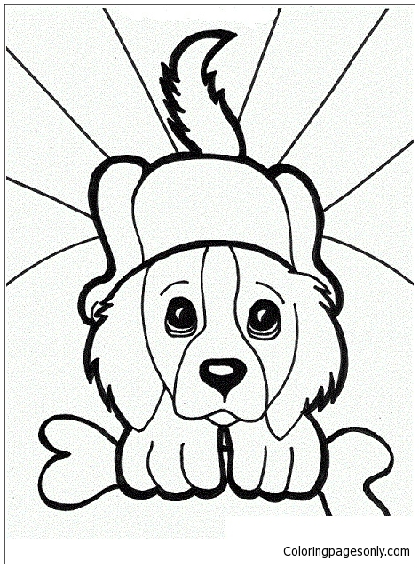 Puppy Eyes Dog Coloring Page