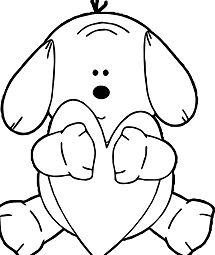 Puppy Hugging Heart Dog Puppy