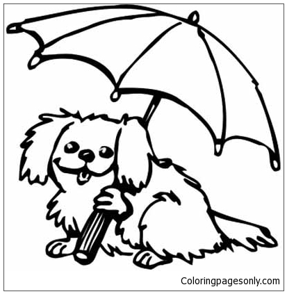 Puppy Love Coloring Pages #6 - Cute Baby Puppy Coloring Pages ... | 423x413