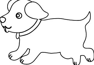 Puppy Outline Dog Puppy