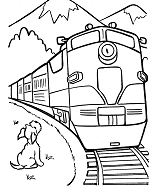 Puppy With Train