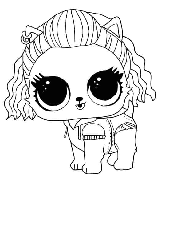 Lol Suprise Doll Pupstagram Coloring Page