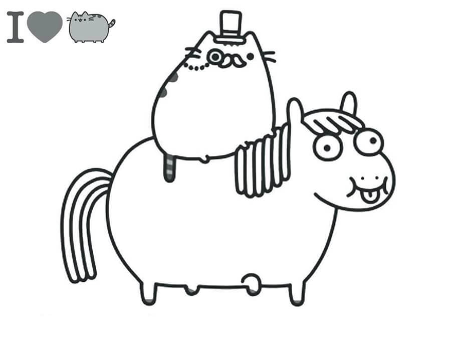 Pusheen Cat And Fat Pony