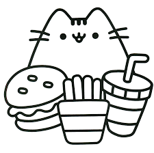 Pushen Cat Coloring Page