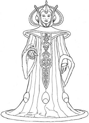 Queen Amidala Coloring Page
