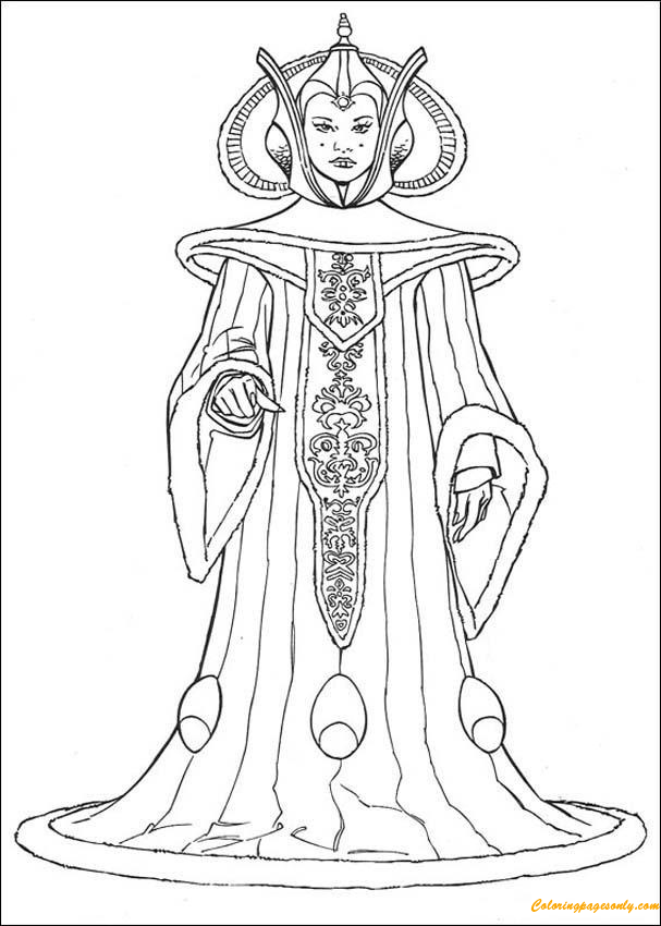 Queen Amidala Coloring Pages