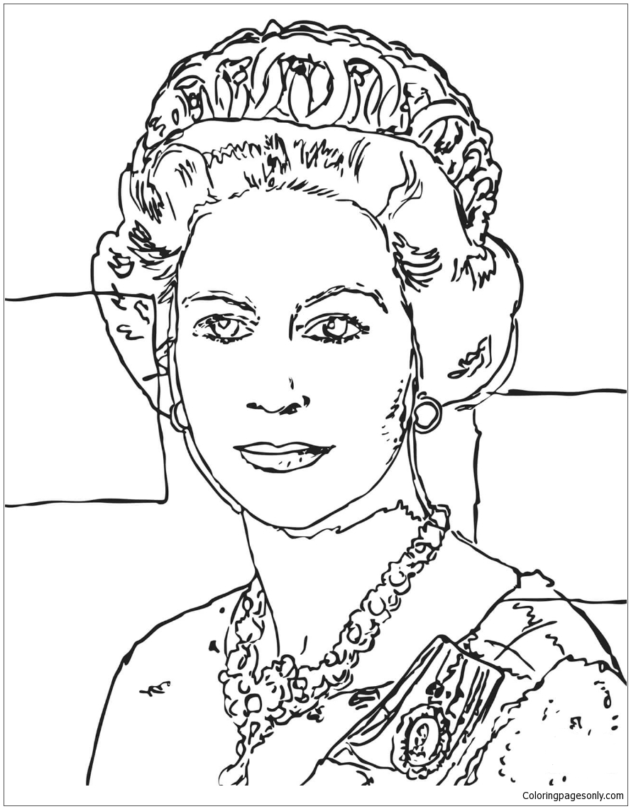 - Queen Elizabeth By Andy Warhol Coloring Page - Free Coloring Pages
